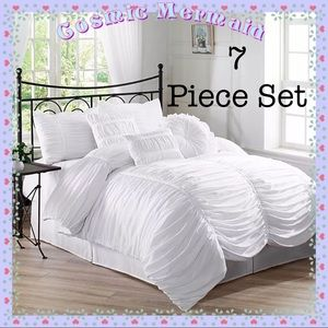 Other - White🆕🌸7 PC✨Luxury Shabby Chic Ruffle Bed Set🌸